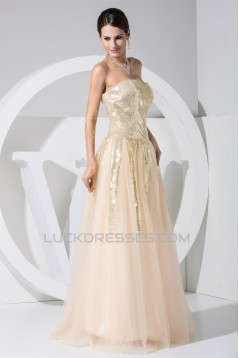 A-Line Sweetheart Sleeveless Satin Fine Netting Sequined Material Wedding Dresses 2030385