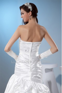 Sleeveless Sheath/Column Sweetheart Silk like Satin Sweet Wedding Dresses 2030403