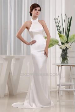 Mermaid/Trumpet Sleeveless Silk like Satin Wedding Dresses 2030404
