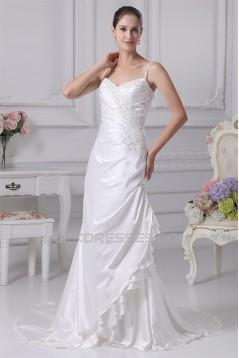 Trumpet/Mermaid Spaghetti Strap Lace Wedding Dresses 2030419