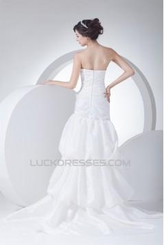 Soft Sweetheart Mermaid/Trumpet Taffeta Netting Reception Wedding Dresses 2030435
