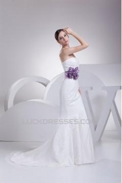 Mermaid/Trumpet Soft Sweetheart Sleeveless Best Wedding Dresses 2030438
