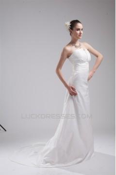 Strapless Sleeveless A-Line Taffeta New Arrival Wedding Dresses 2030459