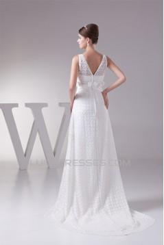 Straps Sleeveless Chiffon Satin Lace Fine Netting Wedding Dresses 2030466
