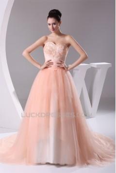 Sweetheart A-Line Satin Fine Netting Sleeveless New Arrival Wedding Dresses 2030470
