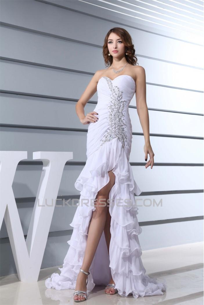 Sweetheart Beading Sleeveless Brush Sweep Train Wedding Dresses 2030474