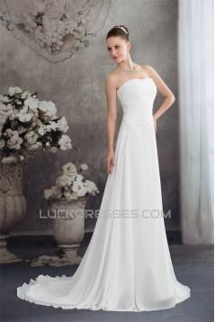 Sweetheart Chiffon Silk like Satin Fine Netting Wedding Dresses 2030478