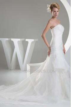 Sweetheart Organza Sleeveless A-Line New Arrival Wedding Dresses 2030480