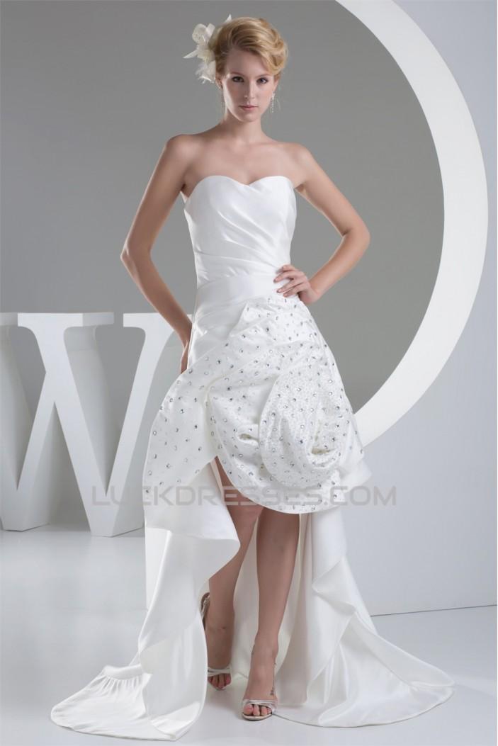 Sweetheart Sleeveless Satin Mermaid/Trumpet Beaded Little White Dresses 2030490