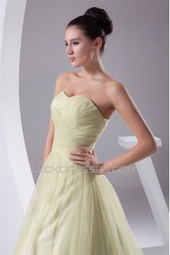 Sweetheart Sleeveless Silk like Satin Fine Netting Wedding Dresses 2030491