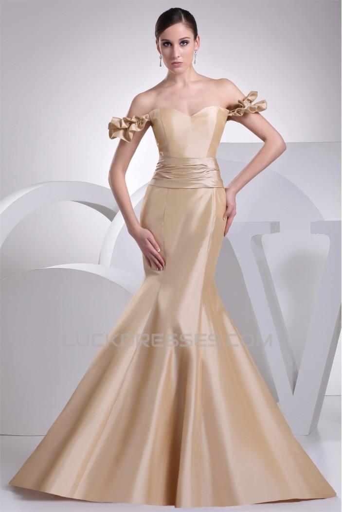 Taffeta Mermaid/Trumpet Off-the-Shoulder Most Beautiful Wedding Dresses 2030494