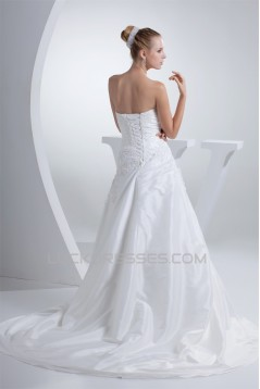 Sweetheart A-Line Organza Lace Wedding Dresses 2030507