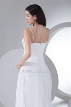 V-Neck A-Line Sleeveless Chiffon Silk like Satin Most Beautiful Wedding Dresses 2030509