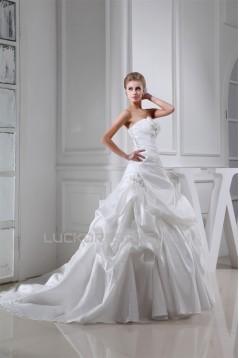 Wholesale Sweetheart Taffeta Sleeveless A-Line Wedding Dresses 2030515