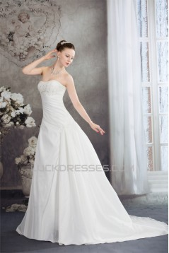 Wonderful A-Line Taffeta Strapless Sleeveless Wedding Dresses 2030518