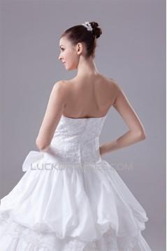 Wonderful Satin Lace Taffeta Strapless Sleeveless Best Wedding Dresses 2030520
