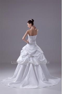 Wonderful Satin Sleeveless A-Line Sweetheart Wedding Dresses 2030521