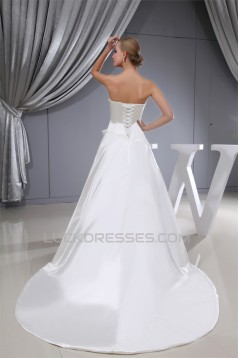 Wonderful Sweetheart Satin A-Line Sleeveless Wedding Dresses 2030526