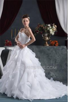 A-Line Satin Sweetheart Sleeveless Most Beautiful Wedding Dresses 2030536