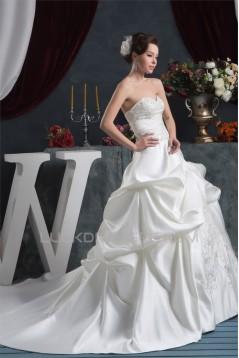 Amazing A-Line Satin Taffeta Sweetheart Sleeveless Wedding Dresses 2030570