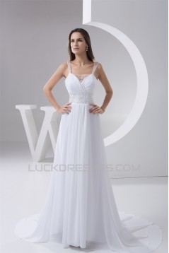 Amazing Chiffon Fine Netting Square A-Line Wedding Dresses 2030573