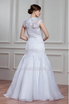 Amazing Sheer Satin Lace Organza Mermaid/Trumpet Wedding Dresses 2030580