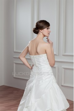 Amazing Sleeveless A-Line Taffeta Sweetheart Wedding Dresses 2030581
