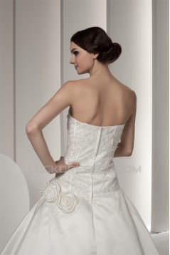 Amazing Soft Sweetheart Satin A-Line Lace Wedding Dresses 2030586