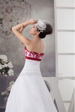 Amazing Sweetheart A-Line Sleeveless Satin Taffeta Wedding Dresses 2030592
