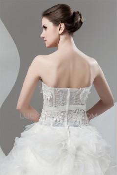 Amazing Sweetheart Ball Gown Sleeveless Satin Organza Wedding Dresses 2030593