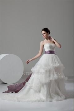 Ball Gown Satin Organza Sweetheart Sleeveless New Arrival Wedding Dresses 2030603