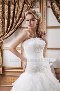 Ball Gown Sleeveless Satin Crunched Organza New Arrival Wedding Dresses 2030606