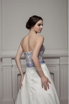 Beautiful A-Line Sleeveless Satin Sweetheart Wedding Dresses 2030615