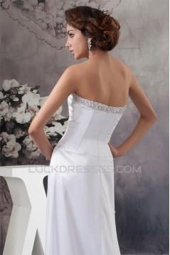 Beautiful A-Line Sleeveless Strapless Beaded Wedding Dresses 2030618