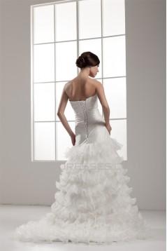 Beautiful Satin Strapless Sleeveless A-Line Wedding Dresses 2030626