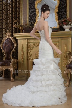 Beautiful Satin Sweetheart Princess Sleeveless Wedding Dresses 2030627