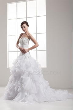 Beautiful Satin Taffeta A-Line Sleeveless Sweetheart Wedding Dresses 2030628