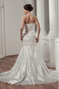 Beautiful Satin Taffeta Sleeveless Lace Halter Wedding Dresses 2030629