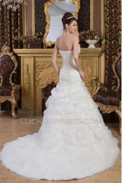 Beautiful Sleeveless Satin Strapless A-Line Wedding Dresses 2030631