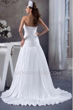 Beautiful Soft Sweetheart Chiffon Satin Sleeveless Wedding Dresses 2030634