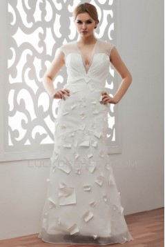 Beautiful V-Neck A-Line Organza Taffeta Wedding Dresses 2030639