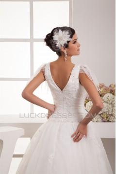 Breathtaking Ball Gown V-Neck Organza Taffeta New Arrival Wedding Dresses 2030643