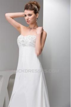 Chiffon Silk like Satin Sweetheart Beaded Sequin Sweet Wedding Dresses 2030658