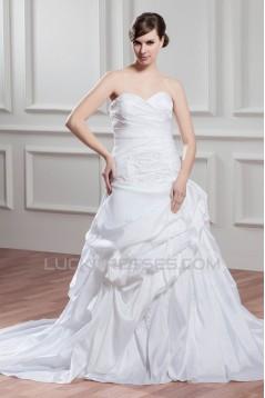 custom made Taffeta Sweetheart Sleeveless A-Line Wedding Dresses 2030659