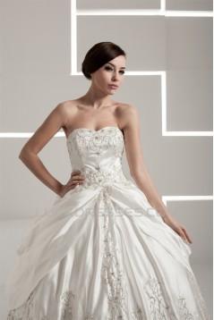 Ball Gown Strapless Floor-Length Wedding Dresses 2030665