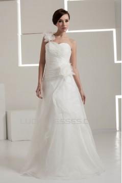 Fantastic One-Shoulder A-Line Sleeveless Wedding Dresses 2030686