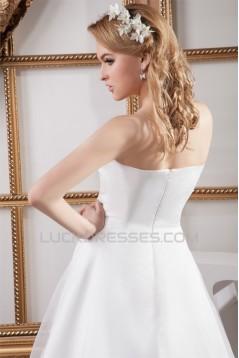 Fantastic Satin Organza Strapless A-Line Sleeveless Wedding Dresses 2030691