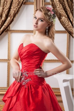 Fantastic Taffeta Ball Gown Sleeveless Sweetheart Wedding Dresses 2030696
