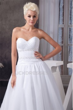 Fashionable A-Line Sweetheart Beaded Wedding Dresses 2030705