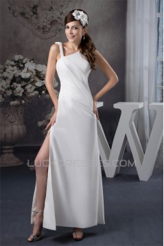 Sheath/COlumn Floor-Length Straps Wedding Dresses 2030711